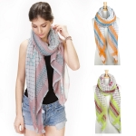 YC059 Multi Color Diamond Print Scarf
