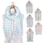 YC064 Polka Dot Print Long Scarf