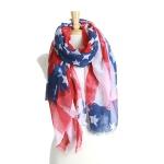 YC097 Vintage American flag scarf