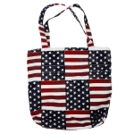 YCB065 American Flag Tote Bag