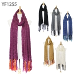 YF1255 Tassle Point Knitted Scarf