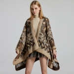 FP003A Multi Abstract Pattern Winter Cape