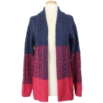 50217 Tri-Color Ombre Style Cardigan, Navy