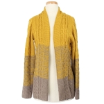 50217 Tri-Color Ombre Style Cardigan, Mustard