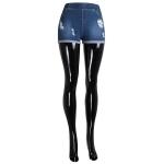 AO1148 Ripped Jean Shorts
