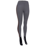 AO1182 Stripe Trimmed Leggings, Grey