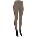 AO1182 Stripe Trimmed Leggings, Khaki