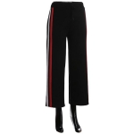 AO1186 Stripe Trimmed Culotte Pants