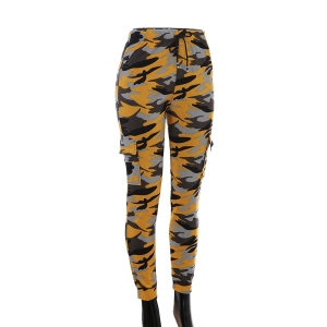 AO1292 Camouflage Pattern Legging w/Pockets, Mustard