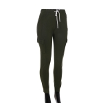 AO1294 Solid Color Legging with Pocket, Olive