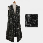 AO6046 Leopard Furry Long Vest