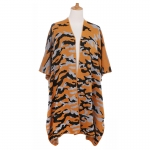 AO6195 Camouflage Pattern Knitted Cape, Mustard