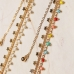 CB-2508 Star & Solid Color Beads Triple Layered Bracelet, Multi