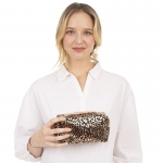 CB1403 Gold Leopard Pattern Cosmetic Bag, Black