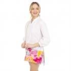 CB1409 Bright Tie-dye Pattern Canvas Clutch/Cross-body Bag, Fuchsia
