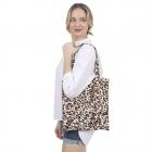 CB1437 Cheetah Pattern Canvas Bag