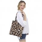 CB1438 Big Leopard Pattern Canvas Bag