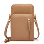 CB1445 Faux Leather Complex Mini Bag, Khaki