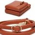 CB1445 Faux Leather Complex Mini Bag, Brown