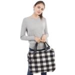 CB1802 Buffalo Plaid Pattern Winter Large Tote Bag, Black