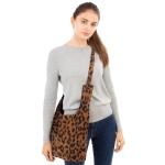 CB1831 Leopard Pattern Corduroy Tote Bag