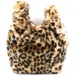 CB8254 Fur Hand Bag, Leopard