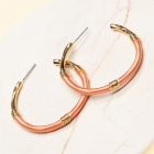 CE-2203 Embroidery Thread Wrapped Hoop Earring, GPK