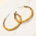 CE-2203 Embroidery Thread Wrapped Hoop Earring, GYE