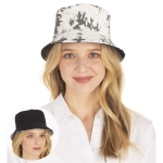 CH1333 Reversible Tie-dye Bucket Hat, Black