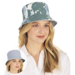 CH1333 Reversible Tie-dye Bucket Hat, Blue
