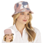 CH1333 Reversible Tie-dye Bucket Hat, Pink