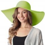 CH6319 Wide Brim Floppy Beach Hat, Green
