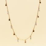 CN-2322 Little Stars & Tiny Rhinestone Loose Necklace, GAMT