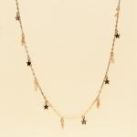 CN-2322 Little Stars & Tiny Rhinestone Loose Necklace, GAPK