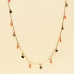CN-2322 Little Stars & Tiny Rhinestone Loose Necklace, GCR