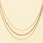 CN-2344 Solid Beads & Small Chain Multi Layered Necklace, GWT