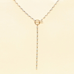 CN-2427 Multi Color Crystal  Toggle Long  Necklace , GOWT