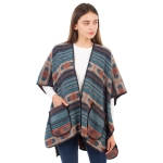 CP1604 Indian Tribe Pattern Pocket Cape