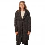CP6230 Marled Sweater Long Cardigan, Black