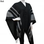 CP6237 3 Stripes cape poncho