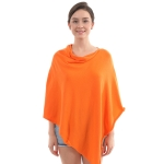CP9921 Solid Light-weight Cashmere Poncho, Orange