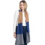 CS0147 Tri-Tone Knitted Winter Scarf, Blue