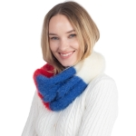 CS0160 Multi Colors Infinity Scarf, Red
