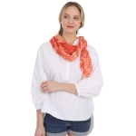 CS1031 Watercolor Tie-dye Lightweight Scarf, Coral