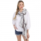 CS1005 Original Tie-dye Pattern Scarf, Black