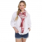 CS1005 Original Tie-dye Pattern Scarf, Wine