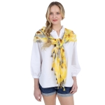 CS1006 Flower Tie-dye Pattern Scarf, Yellow