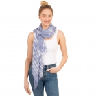 CS1031 Watercolor Tie-dye Lightweight Scarf, Blue