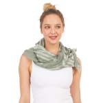 CS1031 Watercolor Tie-dye Lightweight Scarf, Olive