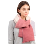 CS1108 Tri-color Ombre Pleated Scarf, Beige